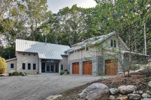 Exterior shell of the 4,000 sq. ft. home took only 2 weeks to build due to prefab panels.