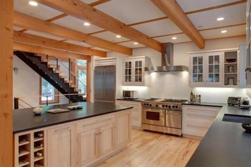 State-of-the-art kitchen featuring Energy Star appliances and water conserving faucet